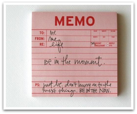 Memo to me